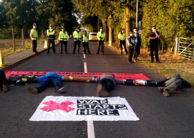 Burghfield Blockade 2013